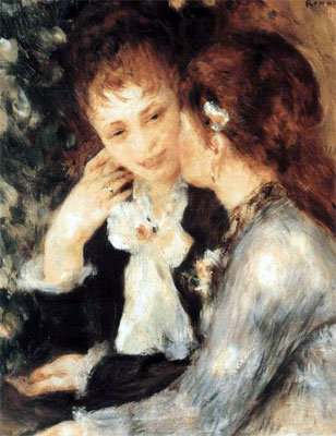 Pierre Auguste Renoir, Young women talking