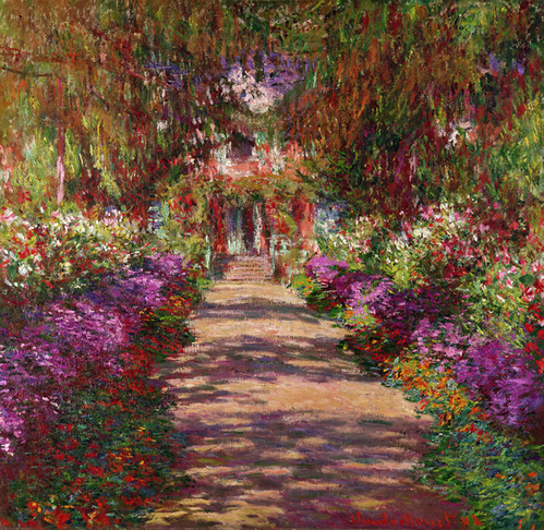 A pathway in Monets garden Giverny, Claude Monet
