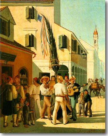 Παχής Χαράλαμπος-Πρωτομαγιά στην Κέρκυρα, περ. 1875
