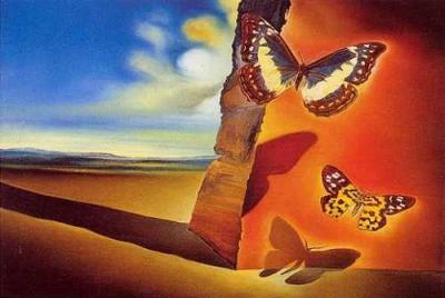 Salvador Dali- Butterfly landscape