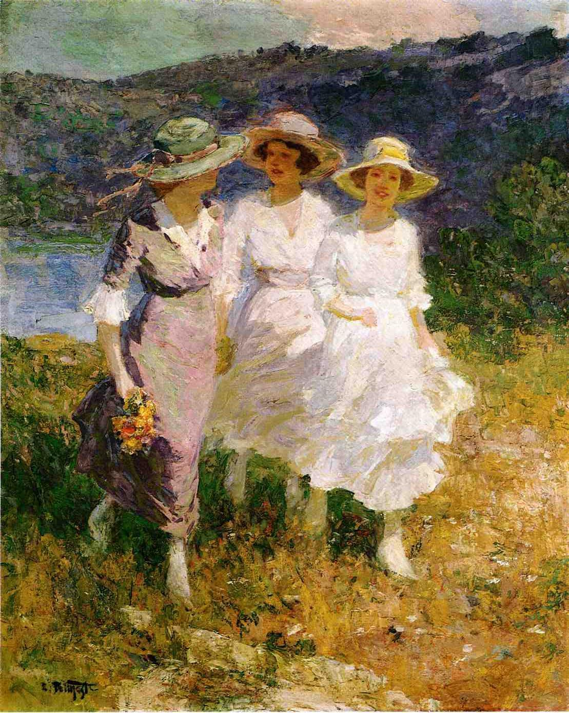 Edward Henry Potthast Walking in the Hills