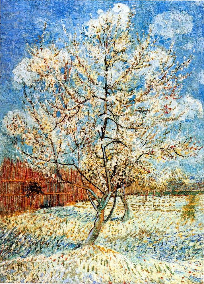 Peach Trees in Blossom, Vincent Van Gogh
