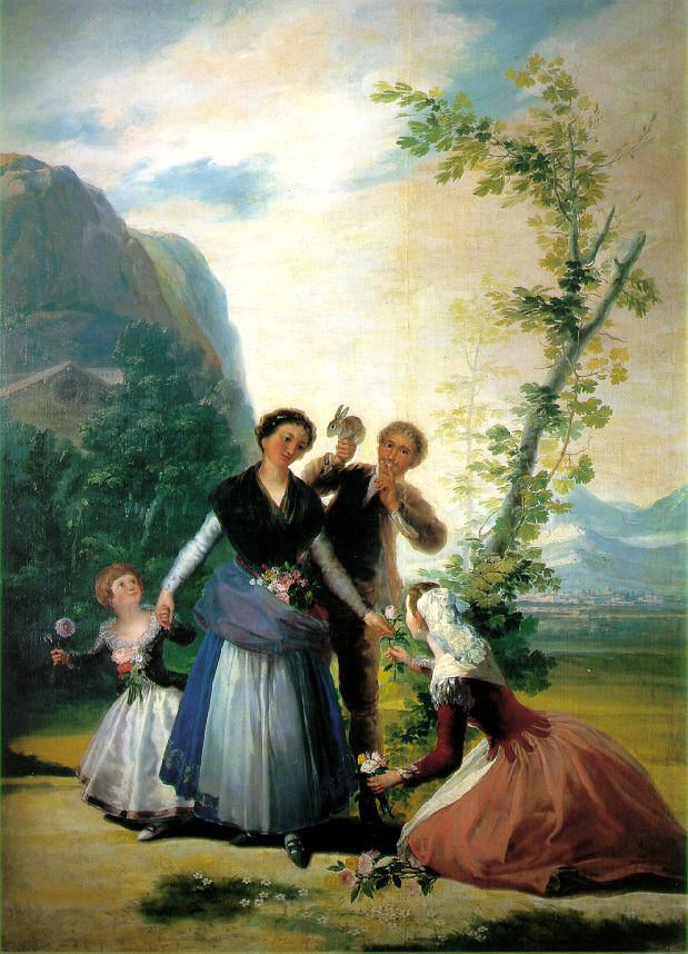 The Florists or Spring, Francisco Goya