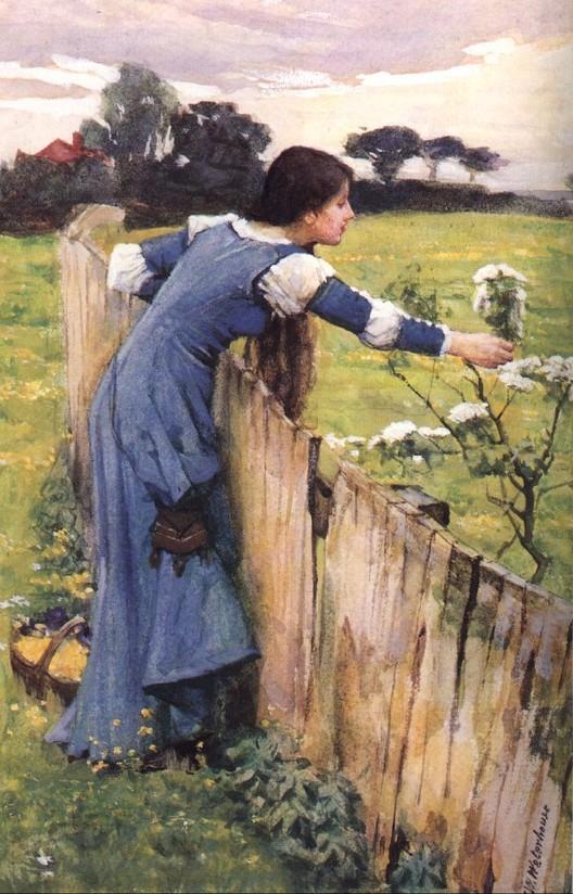 The Flower Picker, πίνακας του John William Waterhouse, 1900