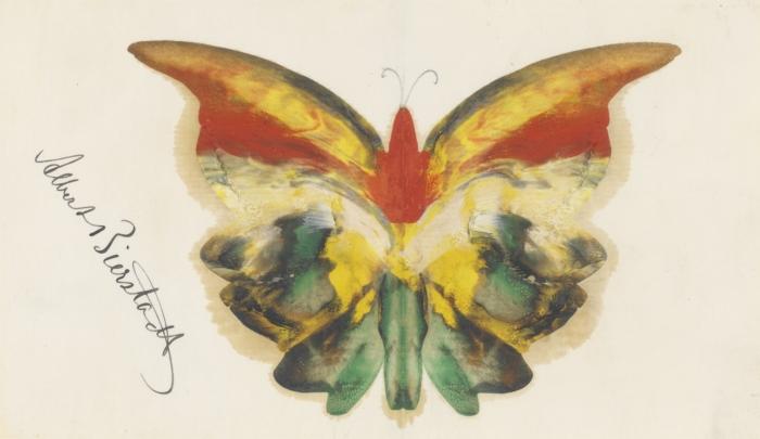 Albert Bierstadt- Yellow Butterfly