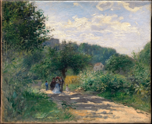 A Road in Louveciennes, 1872
