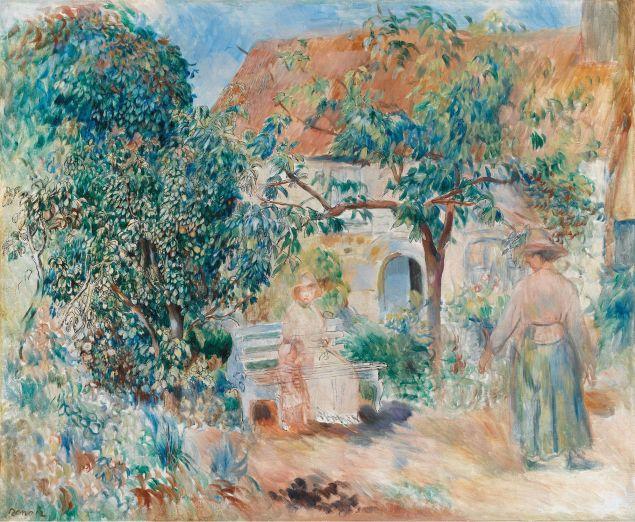 At the Garden in Bretagne, 1886
