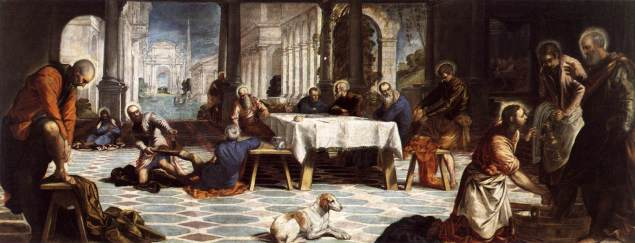 Christ Washing the Disciples' Feet Tintoretto, περ. 1548