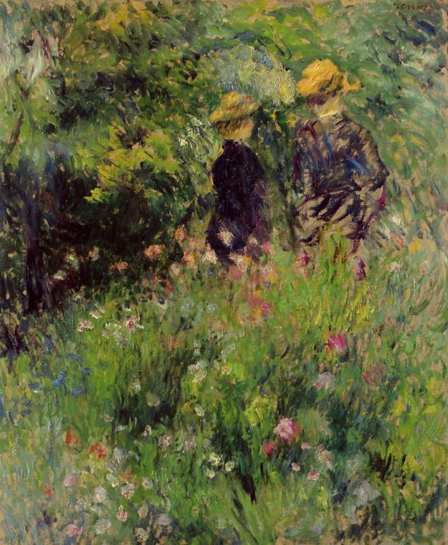 Conversation in a Rose Garden, 1876
