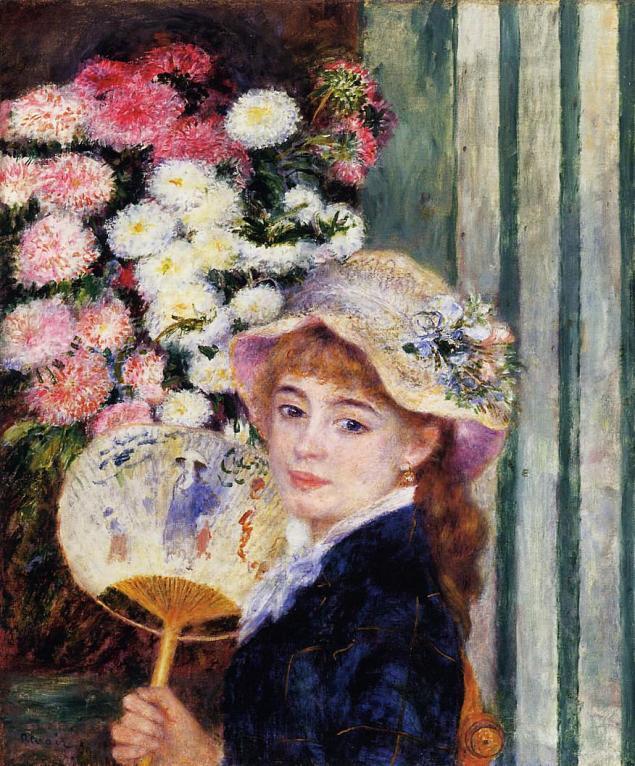 Girl with Fan, 1881