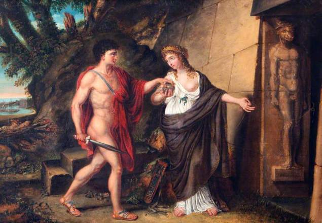 Richard Westall - Theseus and Ariadne at the Entrance of the Labyrinth