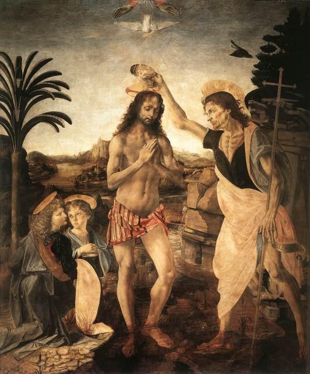 The Baptism of Christ, Andrea del Verrocchio, 1475