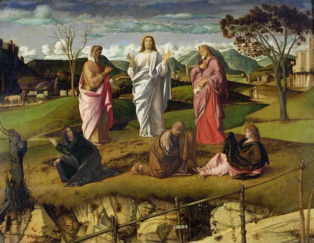 Transfiguration of Christ, Bellini, περ. 1480