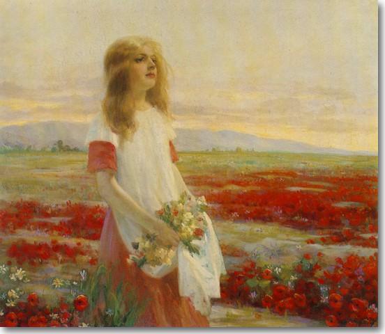 Γερανιώτης Δημήτριος-Κοπέλα σε Αγρό, 1905