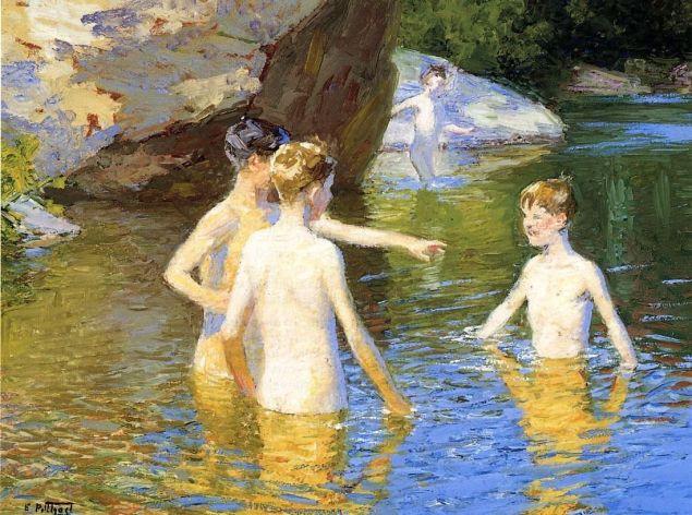 Edward Henry Potthast-In the Summertime