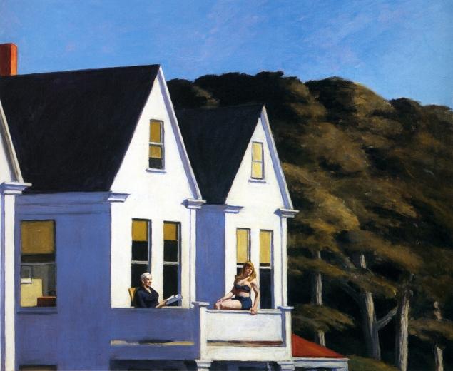 Edward Hopper- Second Storey Sunlight, 1960