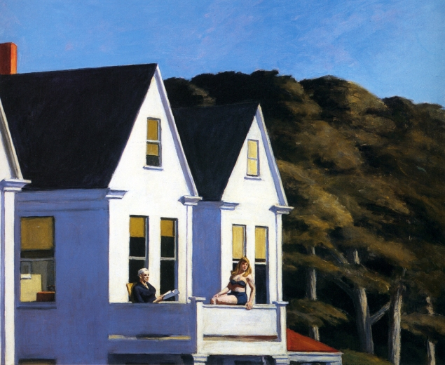 Edward Hopper- Second Storey Sunlight, 1960