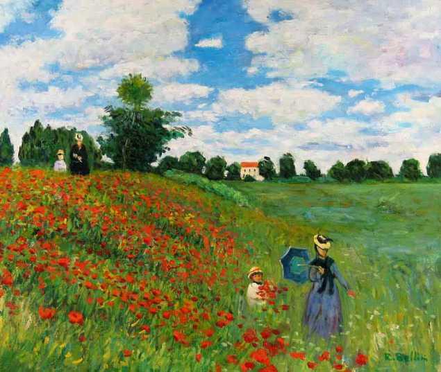 Field of poppies, Monet