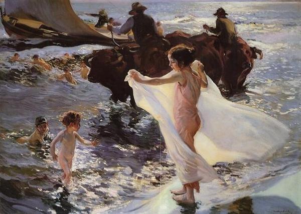 Joaquin Sorolla, La hora del baño (The Bathing hour), 1904