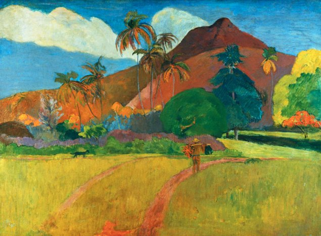 Tahitian Landscape-Paul Gauguin