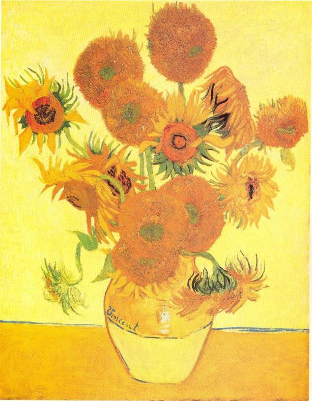 Vincent Van Gogh, Sunflowers (vase with fifteen sunflowers), 1888